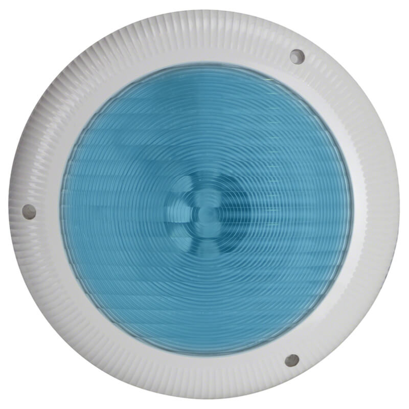 Aquaquip QC Retro LED Blue Pool Light Front with surround