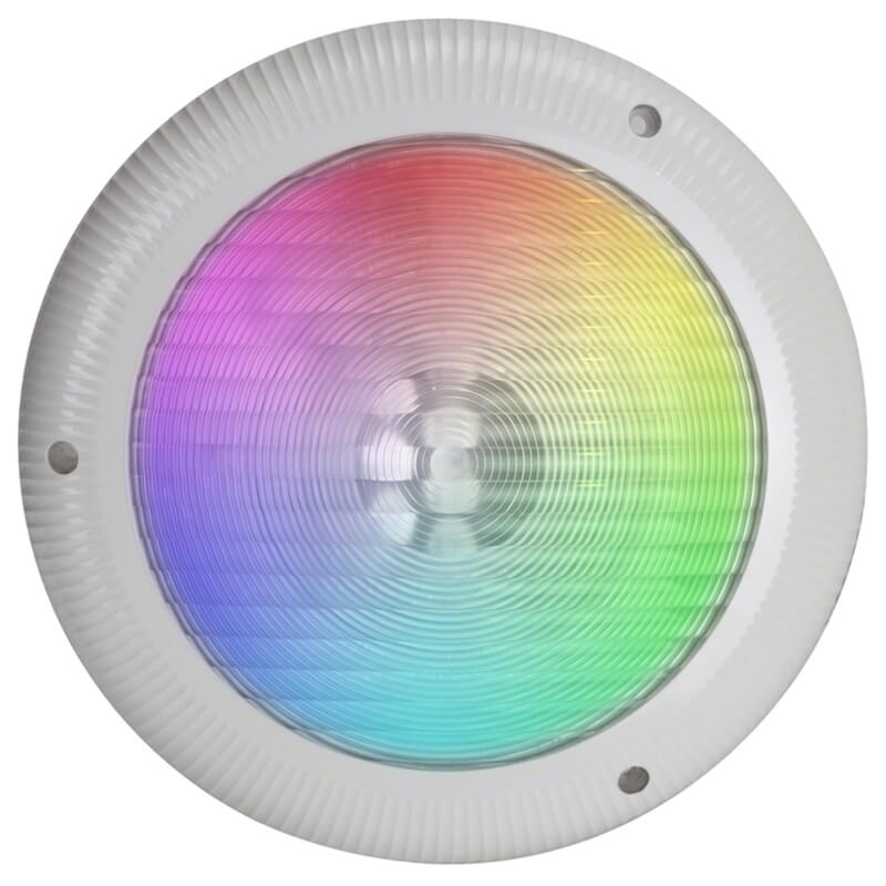 Aquaquip QC Retro LED Multi Pool Light Front with surround