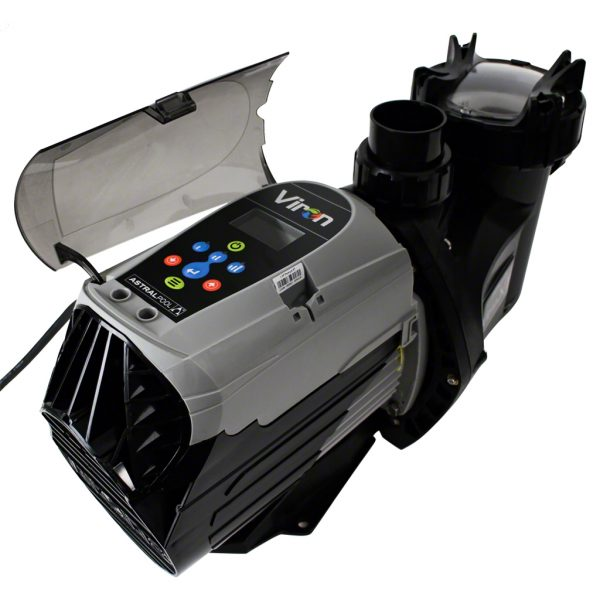 Astral P320 XT Variable Speed Pool Pump 9 Stars Rear Angle Touchpad