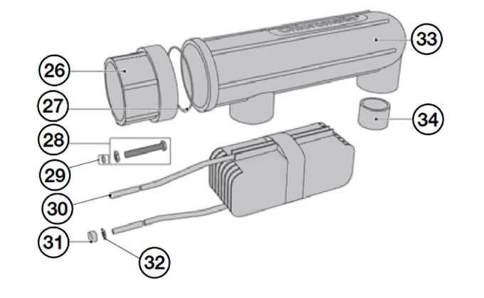 Chloromatic ESC Series Salt Cell Parts Diagram