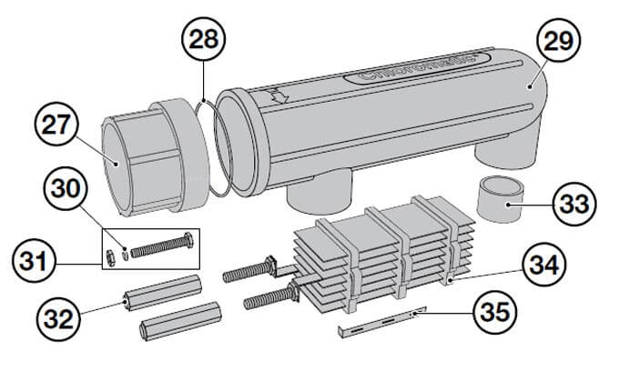 Chloromatic ESR Series Salt Cell Parts Diagram