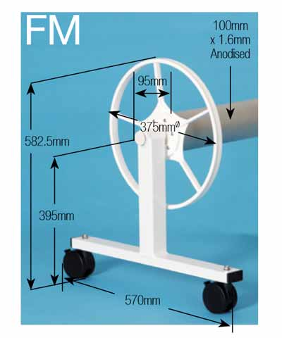 Daisy FM Pool Cover Roller Dimensions