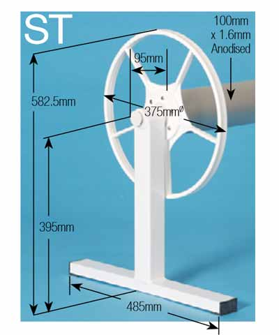 Daisy ST Pool Cover Roller Dimensions