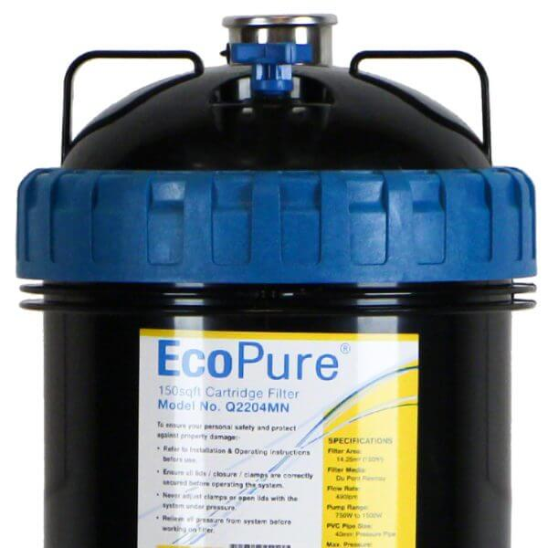 Davey Ecopure 150 Pool Cartridge Filter Q2204MN Front Top