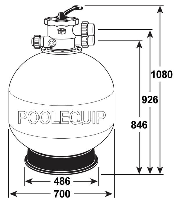 Davey Monarch Ecopure F28 Sand Filter Poolequip
