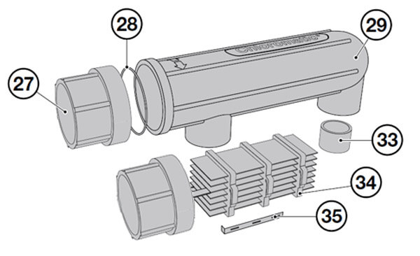 Davey Monarch Chloromaric Salt Cell Electrode Parts Diagram