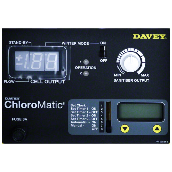 Davey Monarch Chloromatic Chlorinator Control Panel
