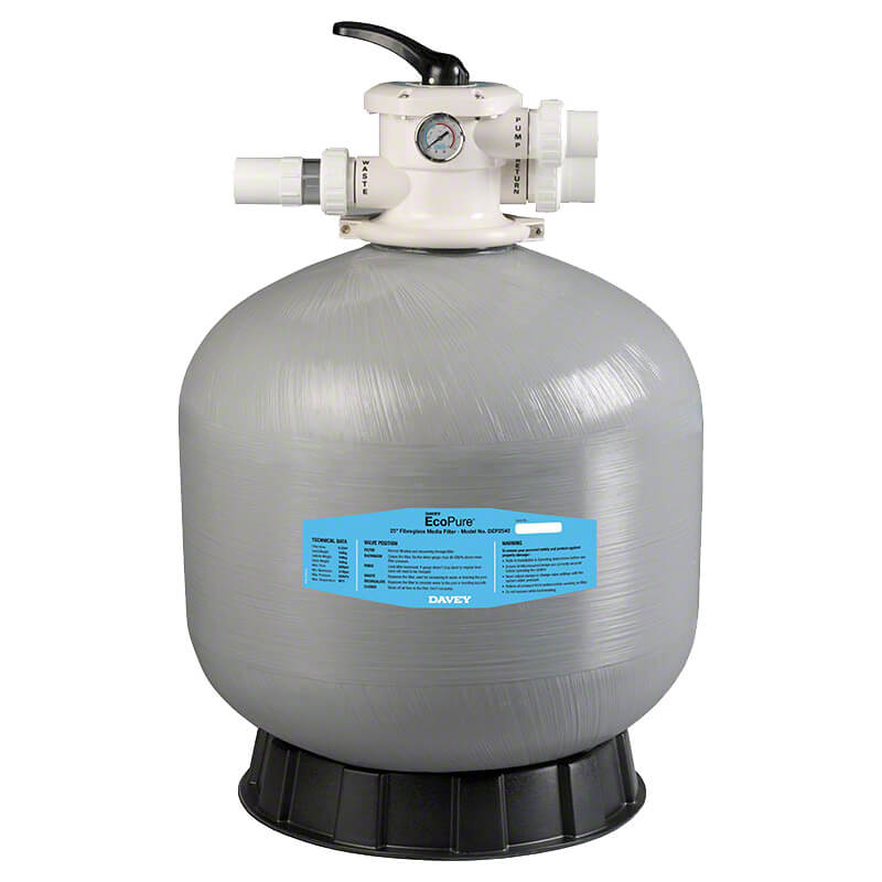 Davey monarch ecopure f28 sand filter poolequip for Obi sandfilter