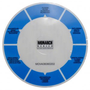 Davey Monarch Ecopure Filter 40mm MPV Decal Label Sticker 14379