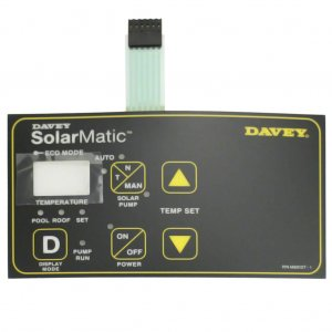 Davey Monarch Solarmatic Controller Label Touchpad M6513T-1