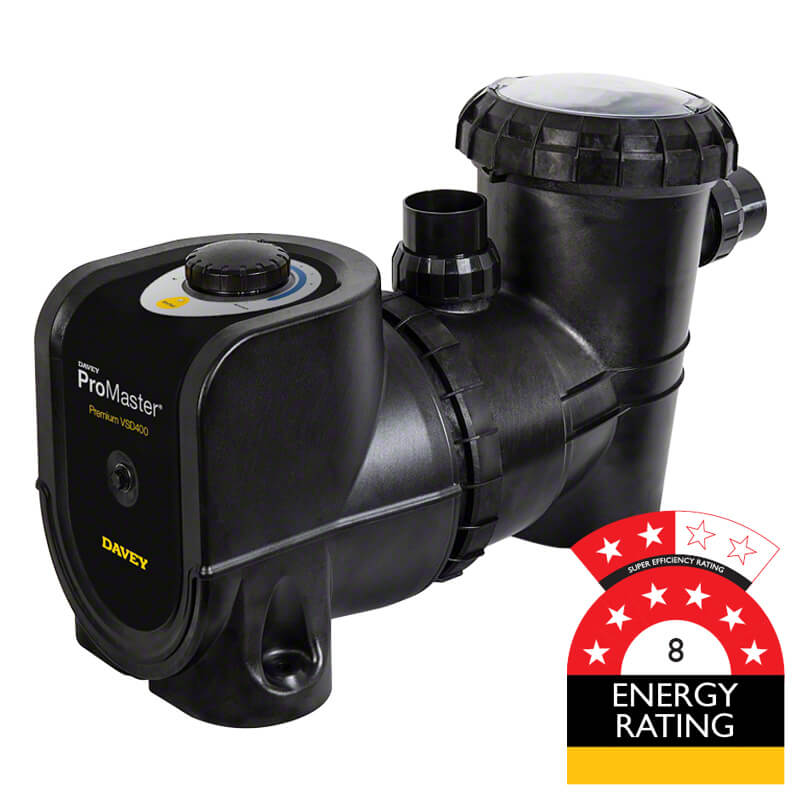 Davey Pro Master 400 Variable Speed Eco Pool Pump PM400PV 8 Star