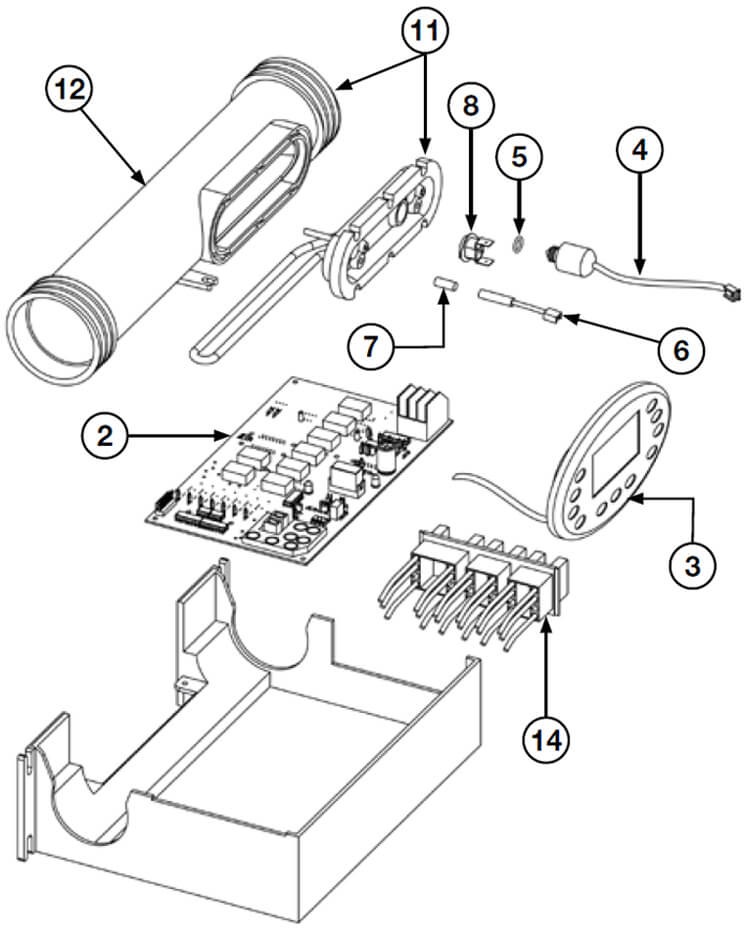 Spa Heater Diagram
