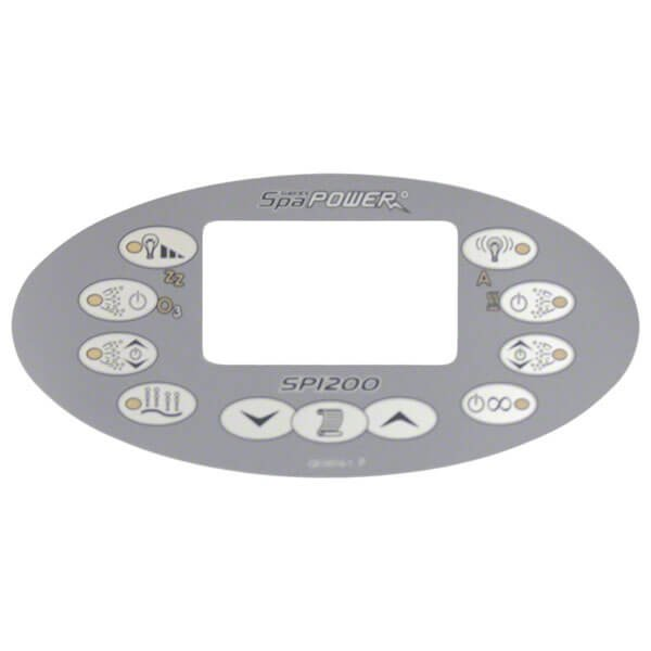Davey Spa Power SP1200 Control Touchpad Decal - Oval