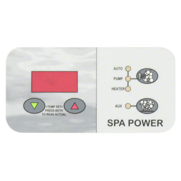 Davey SpaPower SP750 Control Touchpad Decal - Rectangle