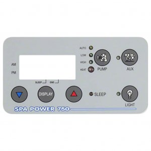 Davey Spa Power SP750 Touchpad Decal Rectangle Q916899