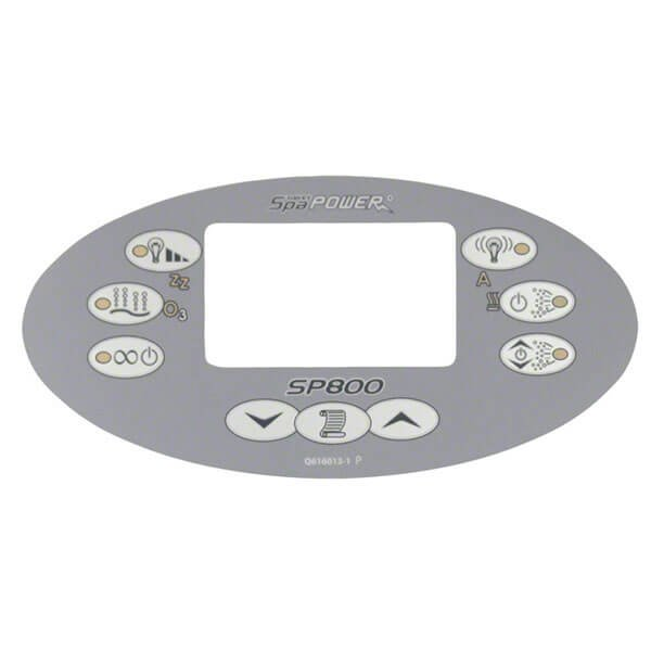 Davey Spa Power SP800 Control Touchpad Decal - Oval