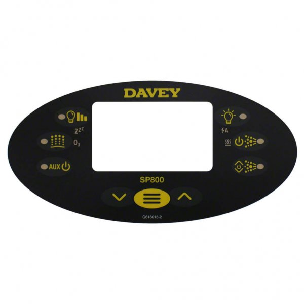Davey Spa Power SP800 Control Touchpad Decal Q616013-1