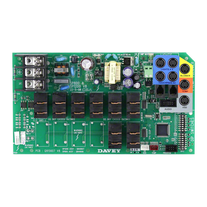 Davey Spa Power SP800 PCB Circuit Board Q846606SP