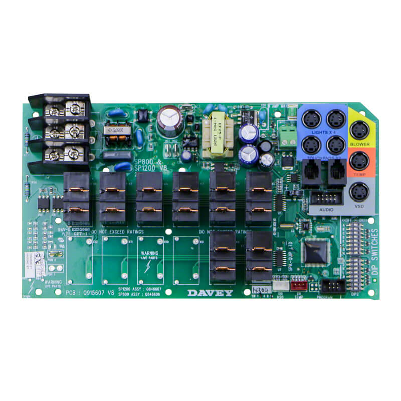 Davey Spa Power SP800 SP1200 PCB Circuit Board