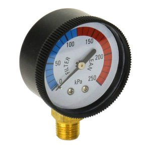 Filter Gauge Standard Black Bottom Front