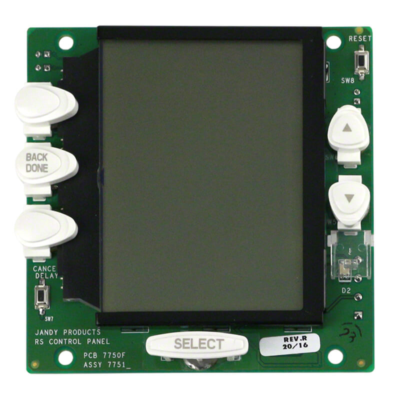 Jandy Aqualink R0550700 RS ONETOUCH Circuit Board Front