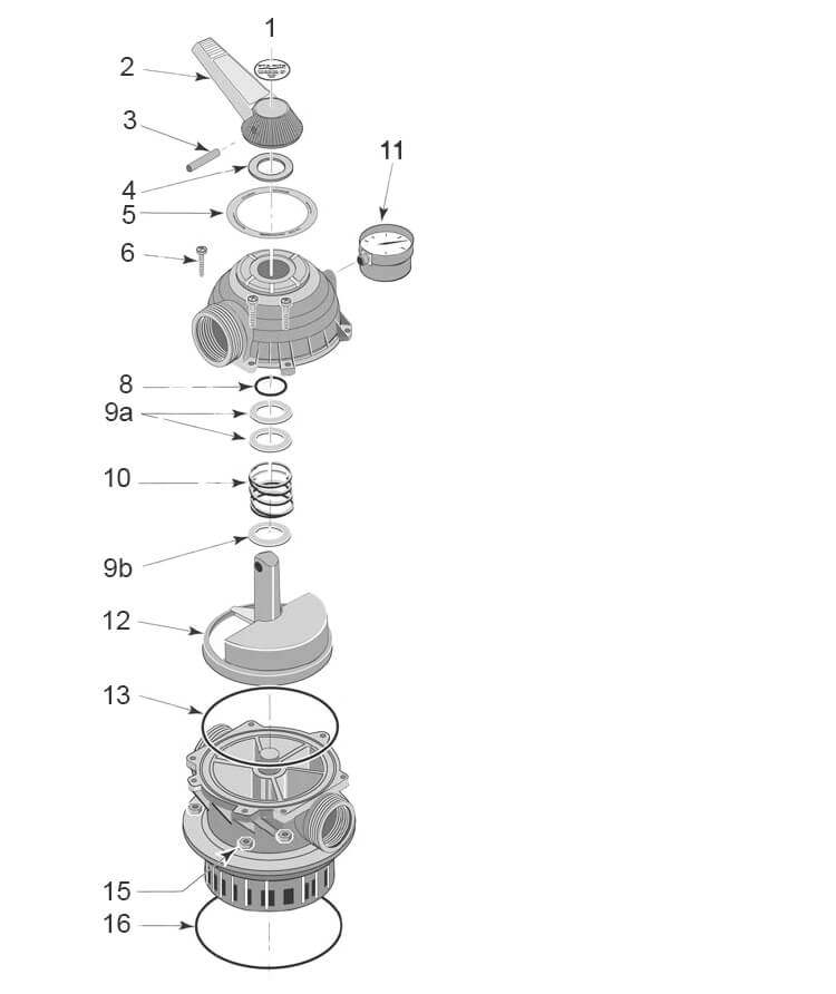 Onga Pantera Filter Valve 40 Parts Diagram