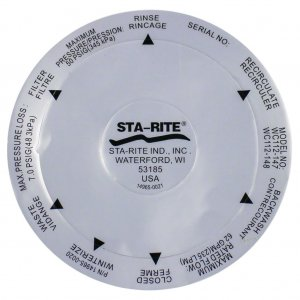 Onga Starite Pantera Filter Valve Decal Label Sticker 14965-0020