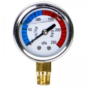 Pool Sand Filter Pressure Gauge Bottom Mount Oil Filled