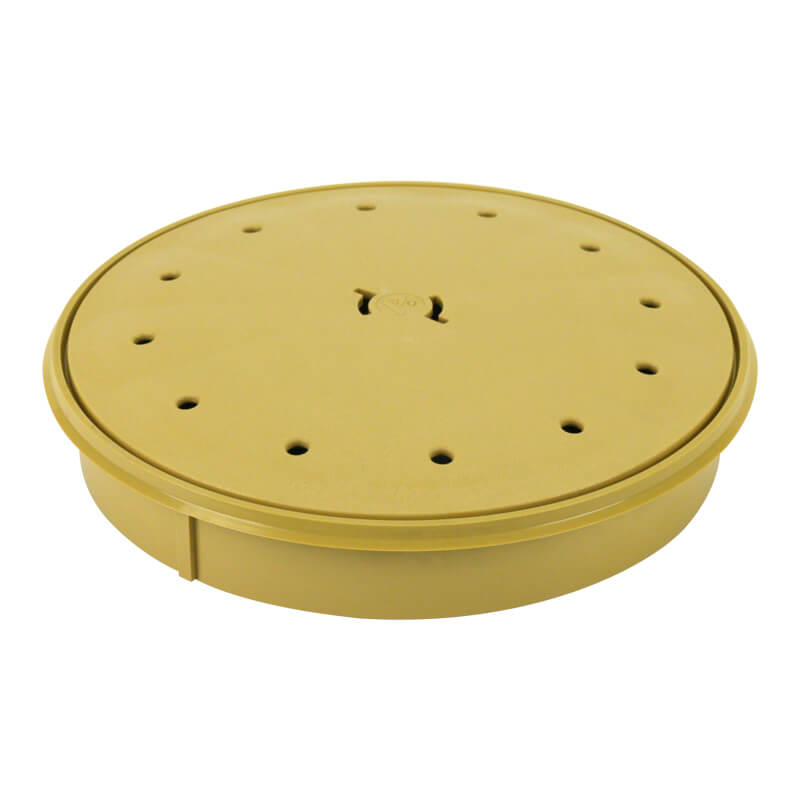 Poolrite Beige Deck Lid and Round Dress Ring