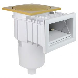 Poolrite S2500 Skimmer Box Fibreglass Beige Square W1453B front