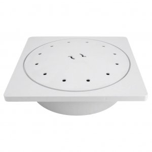 Poolrite S2500 Skimmer Deck Lid Kit Cover White Square W1495