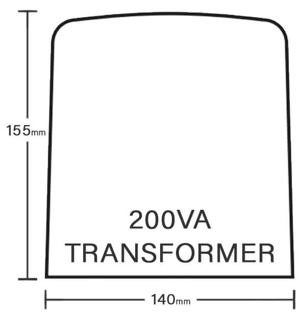 Spa Electrics 200va Transformer Dimensions
