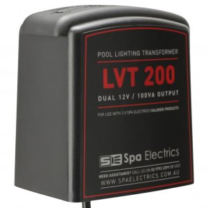 Spa Electrics Pool Light Transformer 200 VA Dual Halogen Double Angle