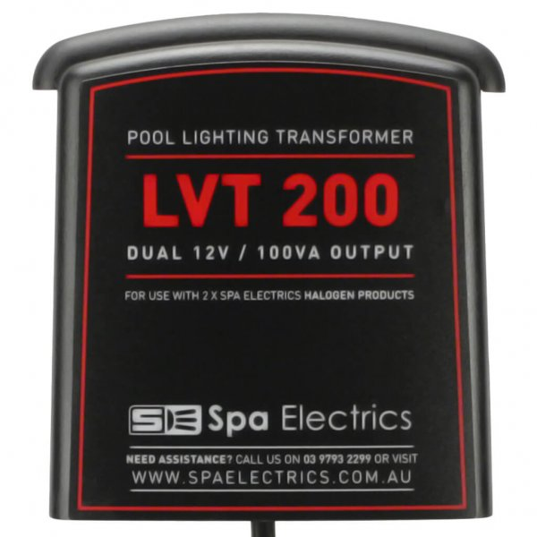 Spa Electrics Pool Light Transformer 200 VA Dual Halogen Double Front